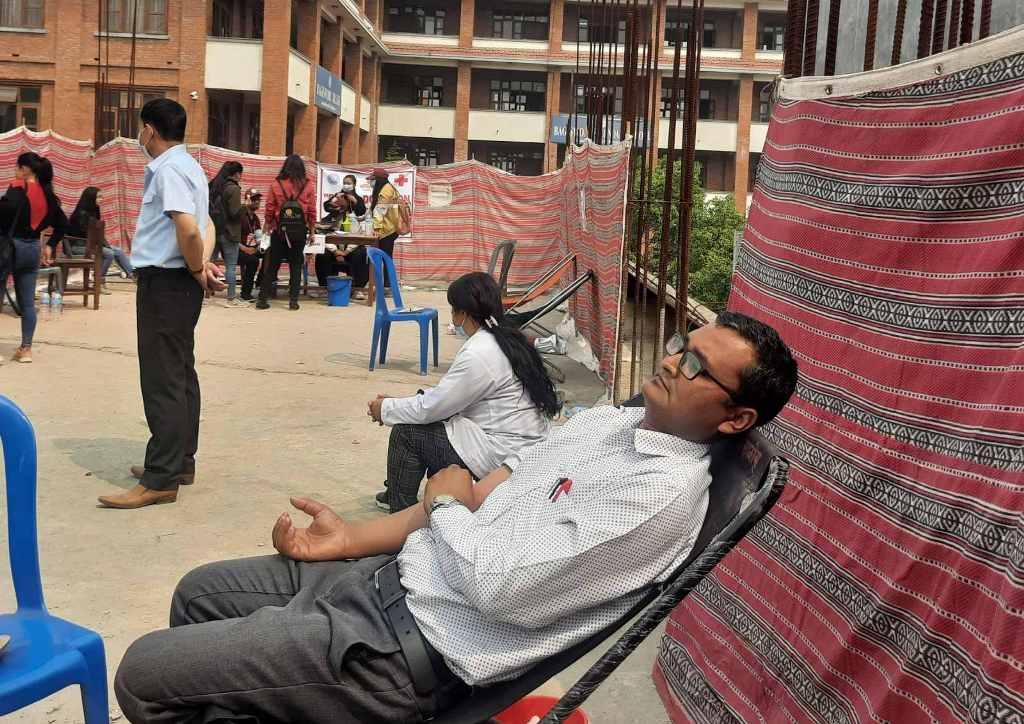 वागीश्वरी कलेजमा रक्तदान